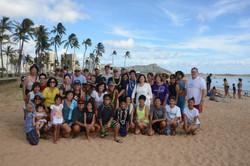 Wellspring family at beach
