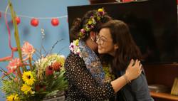 reverand Rebacca and Pastor Cheryl hugs