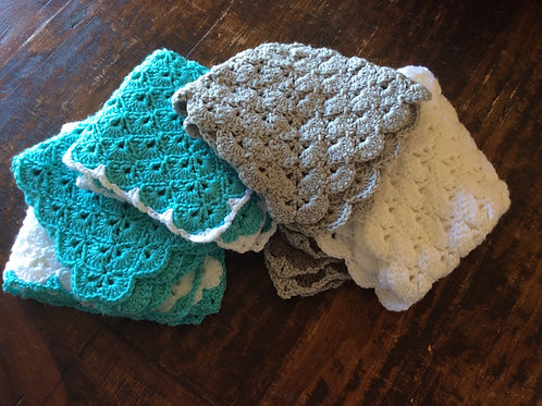Textured Baby Lovey Blanket