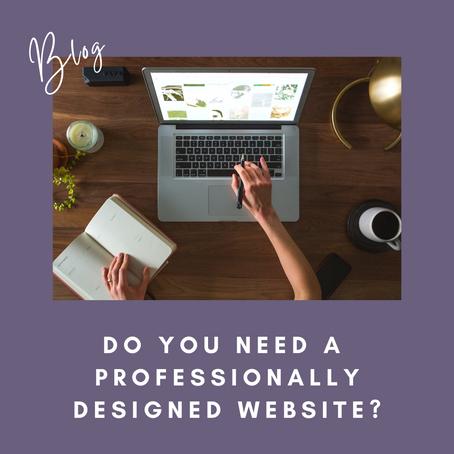"""""""Do You Need A Professionally Designed Website?"""""""