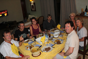 Diner Time  Local food on our menu. Time for conviviality, laughters and friendship.
