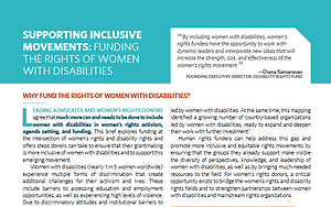 "Screen shot of ""Supporting Inclusive Movements: Funding the Rights of Women with Disabilities"""