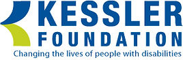 """Kessler Foundation logo in brilliant dark blue and the words """"Changing the lives of people with disabilities."""""""