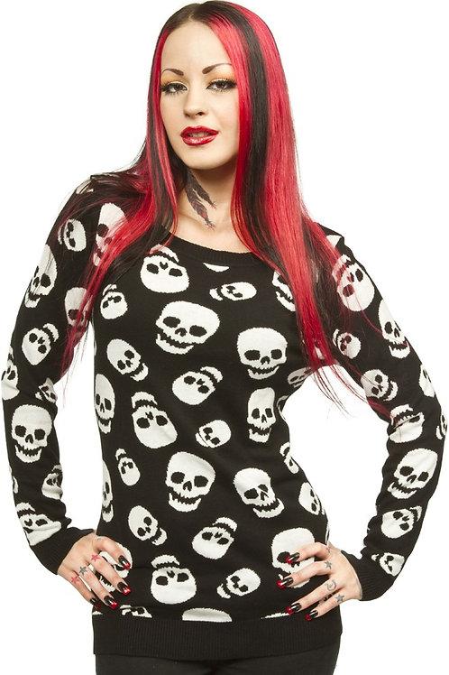 Sourpuss lust for skull sweater