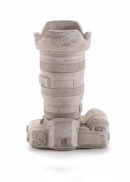 Cement Pot-Object Holder ''Camera''