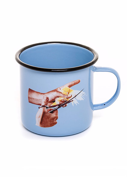 Mug Metal Enameled ''Toiletpaper'' Bird