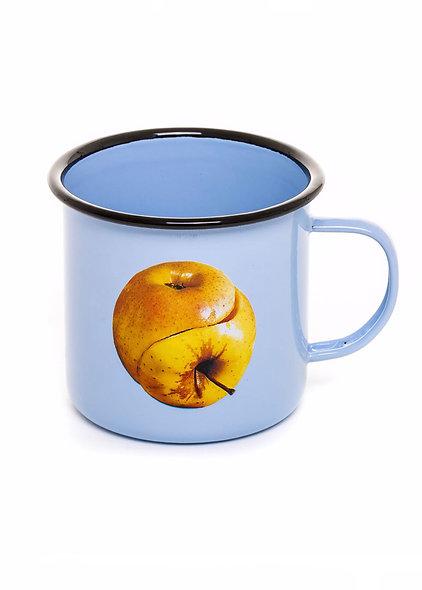 Mug Metal Enameled ''Toiletpaper'' Apple