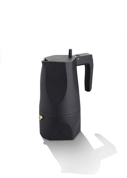 Espresso Coffee Maker - Black - 3 Cups - Ossidiana