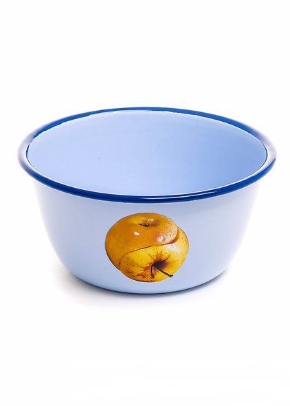 Bowl Metal Enameled ''Toiletpaper'' Apple