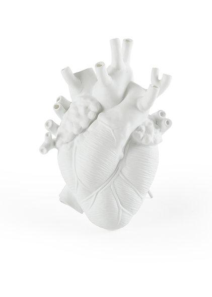 ''Love in Bloom'' Porcelain Heart Vase