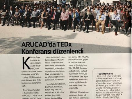 TEDx ARUCAD on press