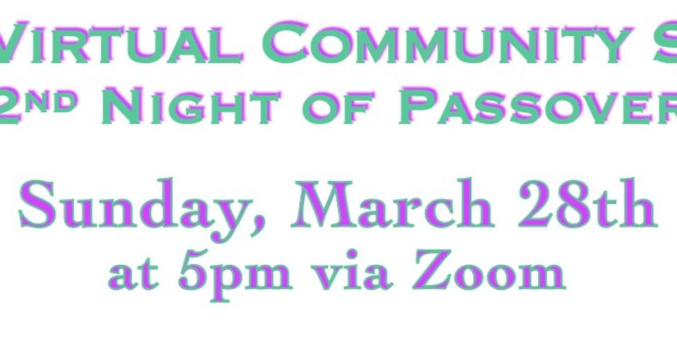 SOZ Virtual Community Seder: 2nd Night Passover