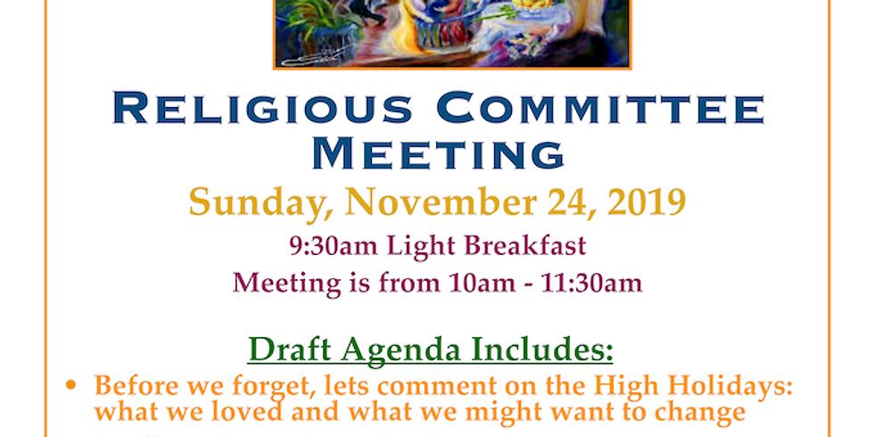 SOZ Religious Committee Meeting