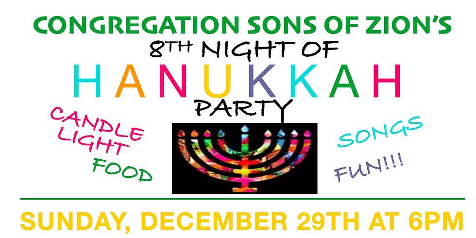 Eighth Night of Hanukkah at the Rosner's