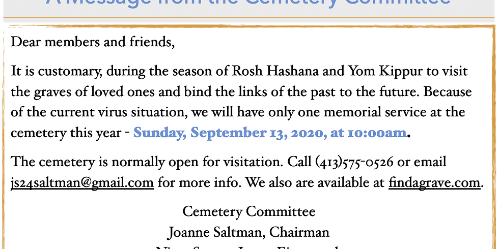 Cemetery Memorial Service