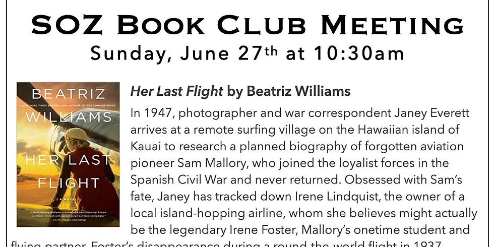 SOZ Book Club - Her Last Flight by Beatriz Williams