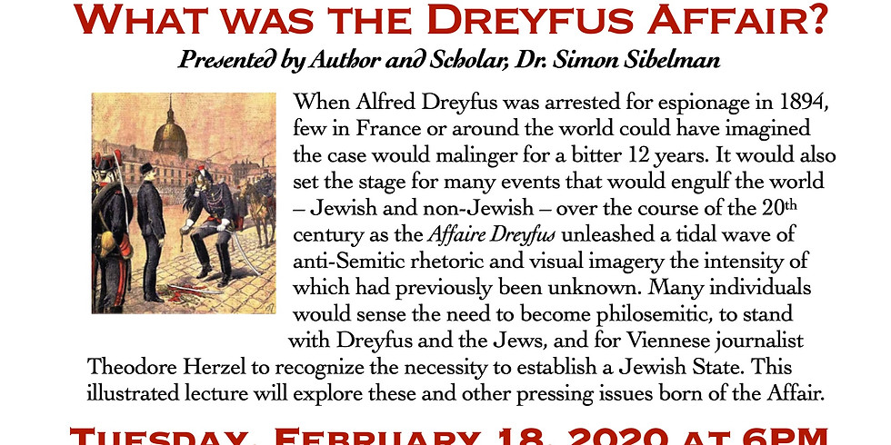 SOZ Adult Education Lecture Series III: What was the Dreyfus Affair?