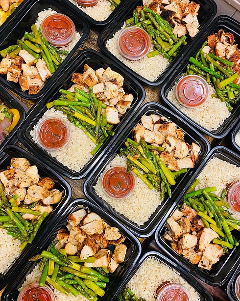 Website Cover photo meal prep chicken as