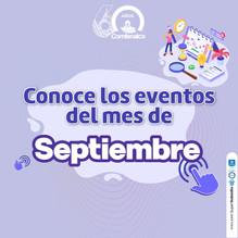 Conoce los eventos del mes de Septiembre 2021