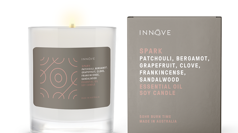 Small Essential Oil Soy Candle - Spark