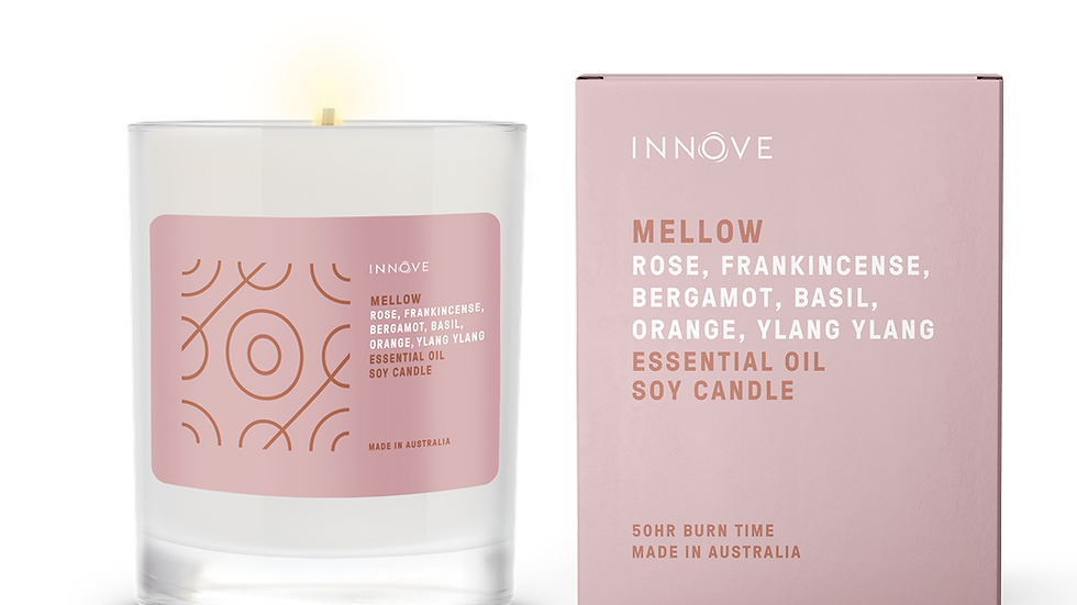 Large Essential Oil Soy Candle - Mellow