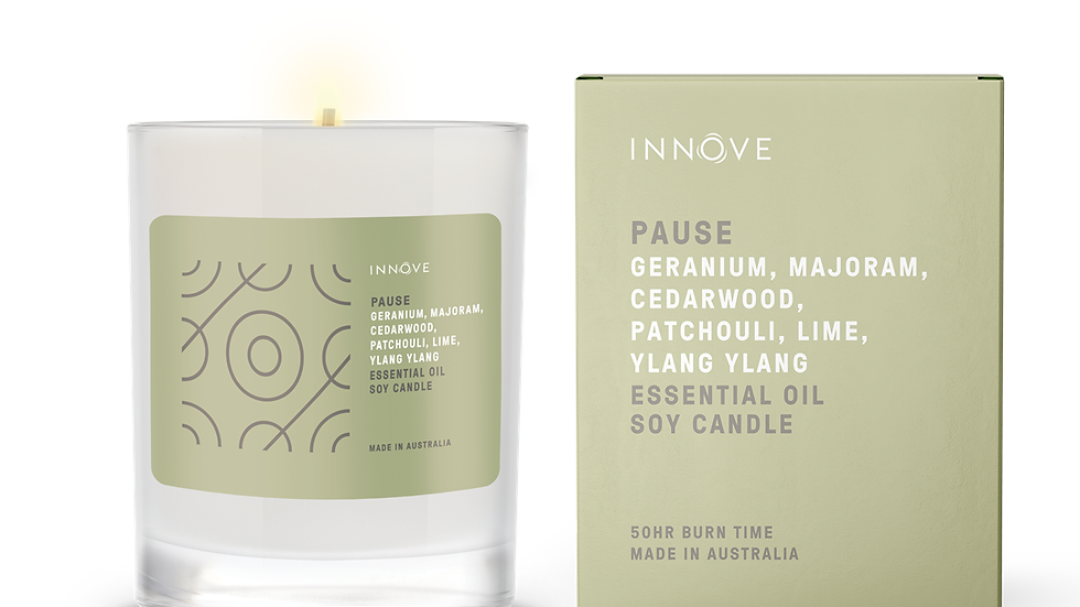 Large Essential Oil Soy Candle - Pause