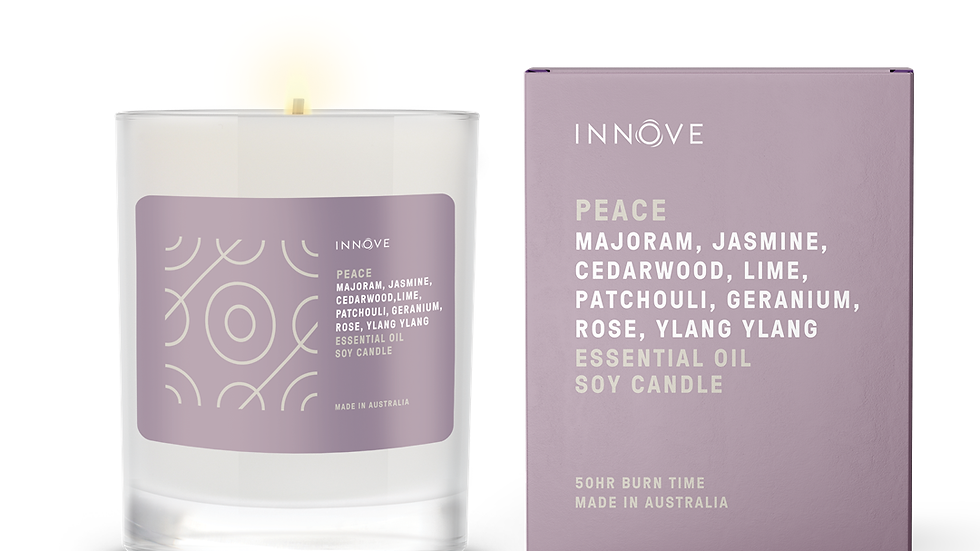 Large Essential Oil Soy Candle - Peace