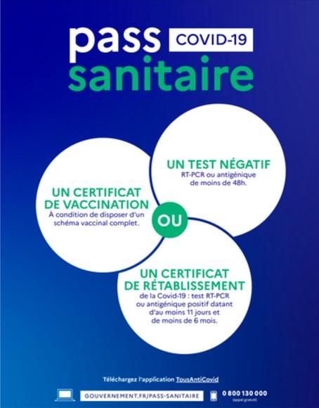Séjour en Touraine et pass sanitaire ?