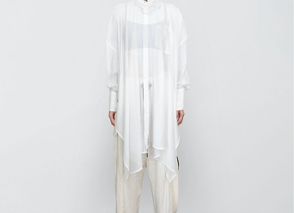 Oversized asymmetric shirt