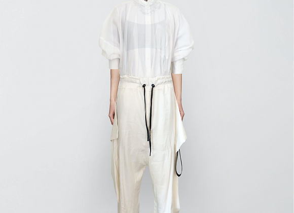 Wide linen trousers