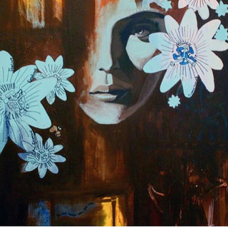 _Floating_ Mixed media on canvas. One of