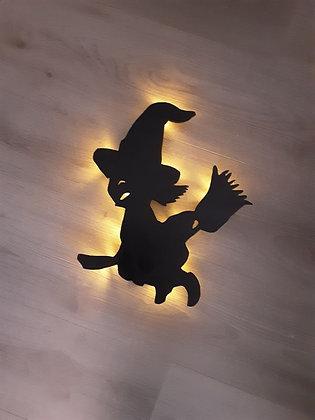 Schattenbild Hexe