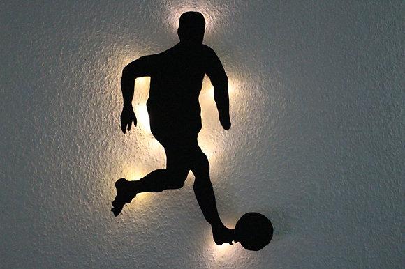Schattenbild Fußballer