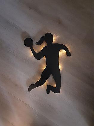 Schattenbild Handballerin
