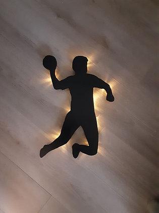 Schattenbild Handballer