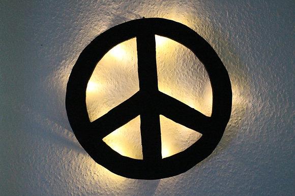Schattenbild Peace Zeichen