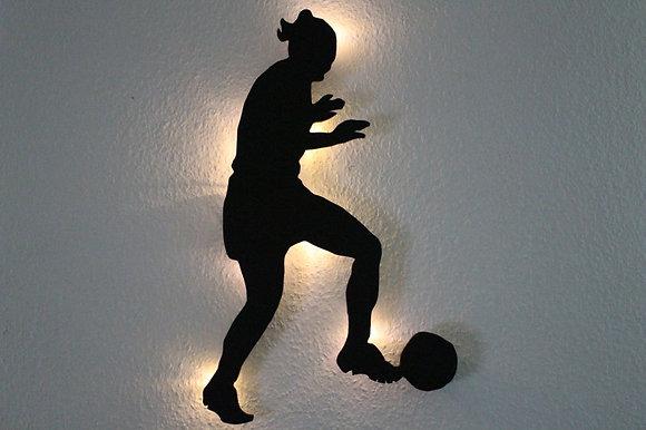 Schattenbilg Fußballerin