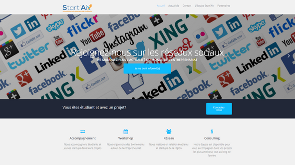 Start'Aix WordPress website