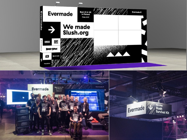 Slush 2017 booth for Evermade