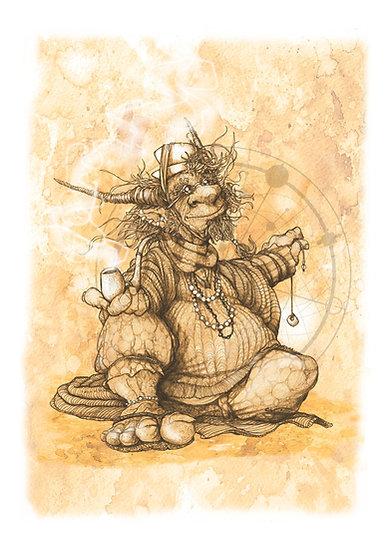 Art Print: Dalai Leonard, The Tea Whisperer