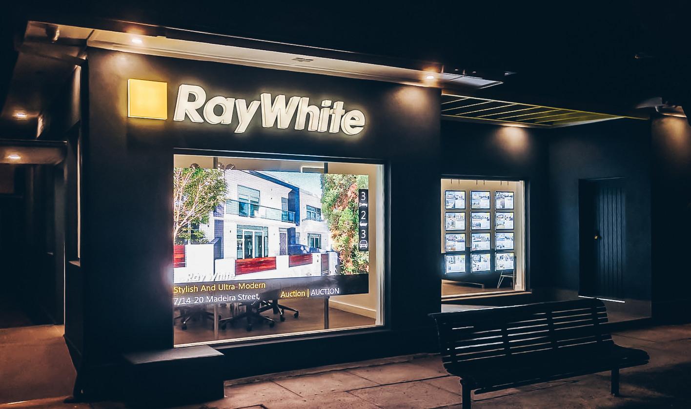 Ray White LED Display