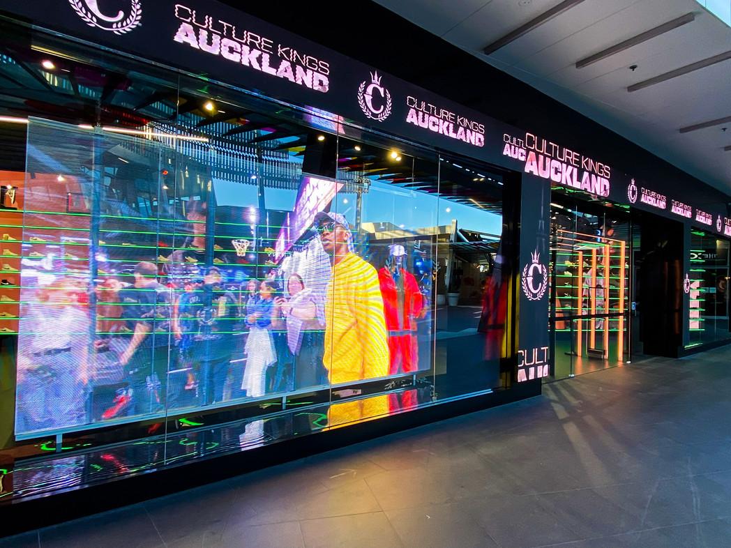 Culture Kings Auckland Transparent LED