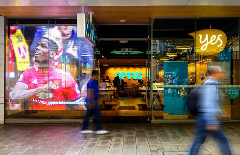 Transparent LED Display for Optus