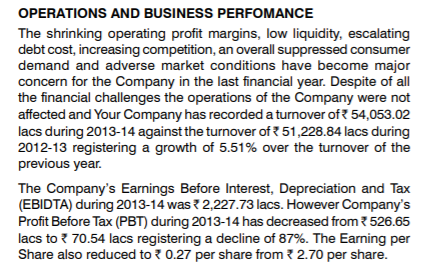 How to read a company's annual report