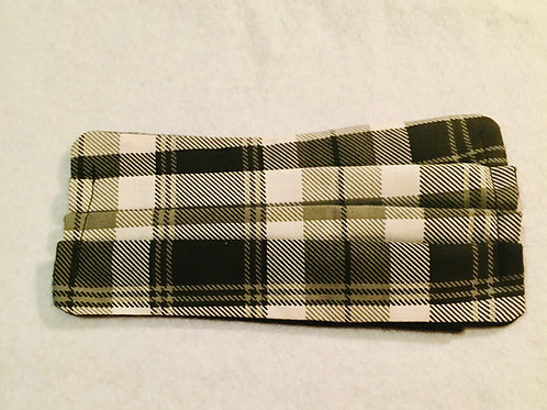 Black Grey White Plaid Face Cover