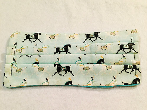 With Pocket: Circus Horse on Teal