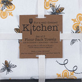 Tea Towel - 3-Piece Cotton Flour Sack Towel Set