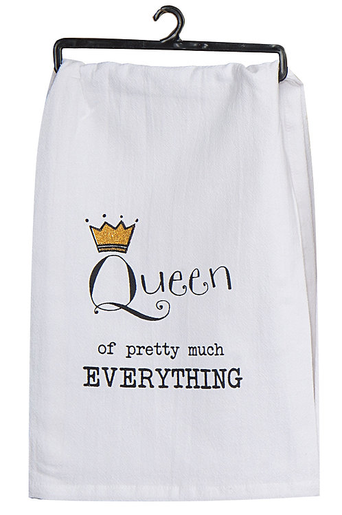 Tea Towel - Queen of Everything Krinkle Flour Sack
