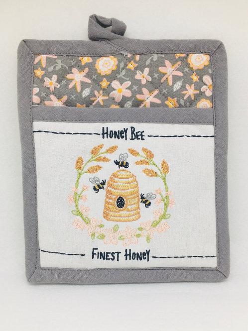 Potholder - Honey Bee Finest Honey Rectangle