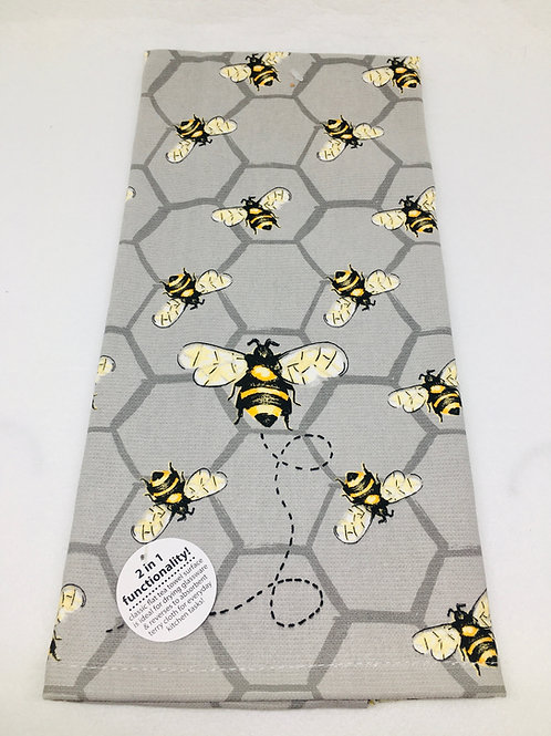 Tea Towel - All over Bee